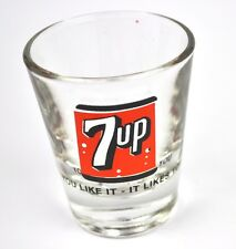 7up Dr Pepper Cola Glas USA Stamper Stamperl Schnapsglas 7 up shot glass 1980er