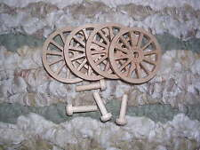 WAGON & CANNON WHEELS - 1½  Inch Diameter Alder small wooden toy buggy carriage