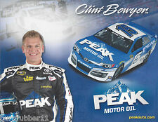 "2013 CLINT BOWYER ""PEAK MOTOR OIL #15"" NASCAR SPRINT CUP POSTCARD"