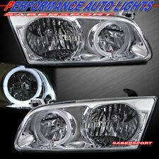 2000-2001 TOYOTA CAMRY ANGEL EYE HALO HEADLIGHTS PAIR CHROME BULBS INCLUDED