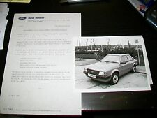FORD Escort automatico per disabili Driver Press Release & Fotografia 1983