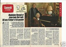 Coupure de presse Clipping 1986 Madeleine Renaud & Jean-Louis Barrault (2 pages)