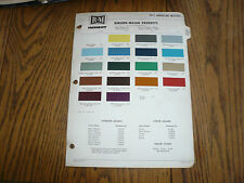 1972 AMC R-M Color Chip Paint Sample