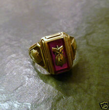 Collegering Balfour 10 ct 416er Gold Ring von 1951 Goldring RDT Indianer Gr. 55