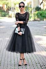 Vintage Black Lace Evening Prom Gown Formal Lady Cocktail Party Dresses Size Hot