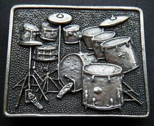 DRUM SET MUSIC MUSICAL INSTRUMENTS BELT BUCKLE BOUCLE DE CEINTURE
