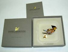 DANIEL SWAROVSKI Paris Paradise Bird Crystal Sterling Pin Brooch Swan Signed NIB