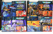 STAR WARS MICRO MACHINES 4 Action Sets (Boba Fett,R2,Chewie,Stormtrooper) NISB