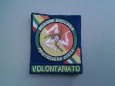 PATCH TOPPA PROTEZIONE CIVILE REGIONE SICILIA ricamato con velcro  cm 6 x 7