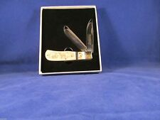 Marbles Scrimshaw Jumbo Trapper Knife With Bone & Stag Handles Mint N Box MR260