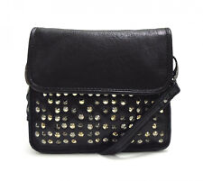 BNWT Urban Code Reckless Leather Studded Mini X Body Bag in Black