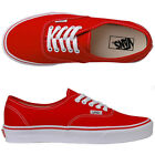 VANS AUTHENTIC RED/WHITE CANVAS NEW IN BOX SIZE'S 4 TO 12