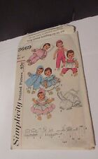 """VTG 50s Simplicity 3669 Baby Doll Clothes Pattern 23"""" Betsy Wetsy Kissy UNCUT"""