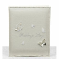"NEW WEDDING GIFT - WHITE BUTTERFLY WEDDING PHOTO / PICTURE ALBUM 7x5"" (12x17cm)"