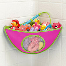 Waterproof Baby Bath Tub Toy Hanging Storage Triangle Bag Suction Cup Organizer
