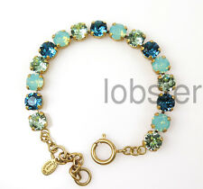 CATHERINE POPESCO GOLD BRACELET multicolor Swarovski Crystal pacific opal mint