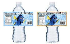20 FINDING DORY PERSONALIZED BIRTHDAY PARTY FAVORS WATER BOTTLE LABELS WRAPPERS
