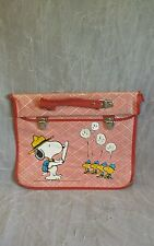 Vintage Peanuts Camp Snoopy With Woodstock Vinyl Clip Bag.  I