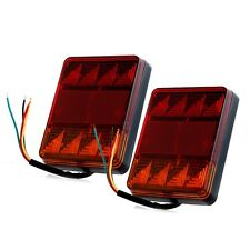 2x Trailer RV Truck Caravans Boat 8LED Stop Brake Rear Tail Turn Indicator Light