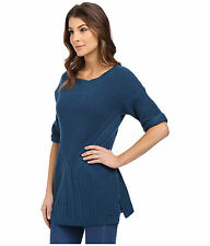 *NEW Calvin Klein Jeans Women's Traveling Cable Short-Sleeve Tunic Sweater L