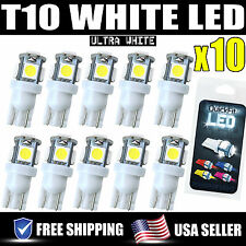 10pcs White T10 Wedge LED 5SMD Xenon Light Bulbs Lamp 5050 Bulb W5W 194 158 192