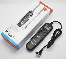 TC-80N3 Timer Remote Switch Shutter Release Cord for Canon Camera 7D 7D2 6D etc