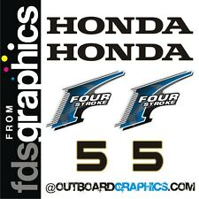 Honda 5hp 4 stroke outboard engine decals/sticker kit - other outputs available