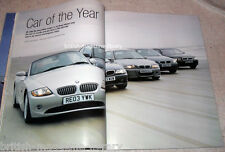 BMW Car of the Year 2003 BMW E34 M5 Alpina E24 B7 Frazer Nash BMW 319/55 E46 M3