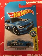 15 Dodge Charger SRT #9 Blue 2017 Hot Wheels Case A