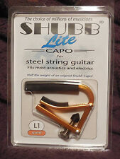 Shubb L1 Lite for Steel String in Gold Aluminum NIB FREE Shipping