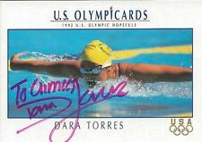 Dara Torres 1992 Impel US Olympicards Autograph RC #72