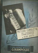Aldo Ratti - Metodo Completo per Fisarmonica a Piano Cromatica 1939 - Rampoldi