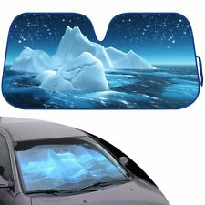 New Glacier Iceberg at Night Car Truck Windshield Folding Sun Shade Large Size
