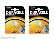 2x Duracell CR1220 Lithium Coin Cell Battery 3v Blister Packed DL 1220