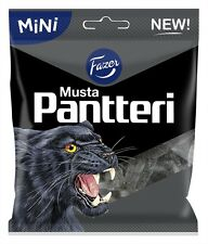 2 Bags x 80g of Fazer Musta Pantteri-(Black Panther)-Salmiak-Liquorice-Candy
