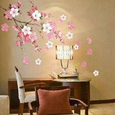 Newest Sakura Flower Blossoms Removable Wall Sticker Home Livingroom Decor Decal