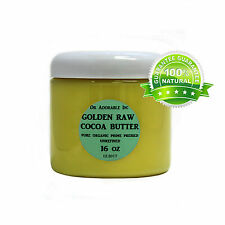 1 LB GOLDEN COCOA BUTTER ORGANIC RAW PURE PRIME COLD PRESSED UNREFINED