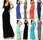 R13 SOLID TANK BASIC SCOOP NECK RACERBACK LONG MAXI SUMMER SKIRT DRESS S M L