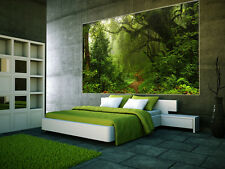 "Prepasted Wall Mural Foto Wall Decor WOODS Forest Wallpaper  82.7"" X 55.5"" BZ933"