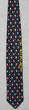 NIGHT OWL--MOON STARS BIRDS SPACE ASTRONOMY SCIENCE Alynn Silk Necktie NEW!