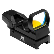 NcStar D4B Tactical Red Dot Reflex Optic Sight w/RED colored Four Reticle