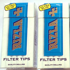 5 Scatole x RIZLA 5mm ULTRA SLIM FILTER TIPS Pre-Cut cigarette Tobacco suggerimenti (600)