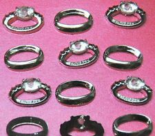 WEDDING RINGS - Engagement Silver White Gold Diamond Dress It Up Embellishments