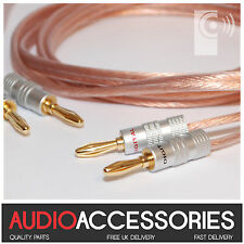 1 x 2m Terminated KONIG Speaker Cable 2.5mm² OFC 4mm Banana Plugs Thats Audio