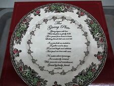 """Johnson Brothers The Friendly Village Giving Plate NIB  10 5/8"""""""