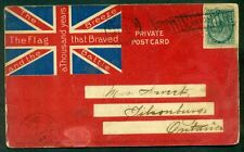 CANADA 1899 1¢ tied Hamilton to Tilsonburg on pretty red flag cover