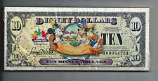 ORIGINAL UNOPENED PACK OF 50 $10 2009-T (STORE) DISNEY DOLLARS UNC