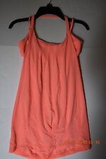LULULEMON Flow and Go Tank Top Orange Yoga Gym Spin Dance Size 6