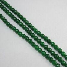 3 Strang  grün Jade 8mm Kugeln Lose Perlen  für basteln