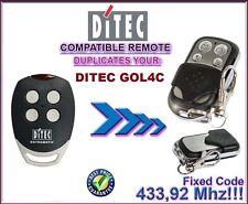 DITEC GOL4C Compatibile Telecomando, Clone  433,92Mhz